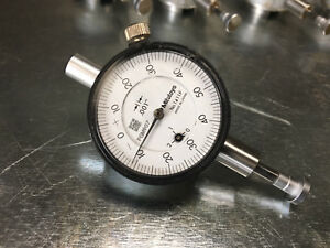 Mitutoyo 0 250 Agd Dial Indicator Flat Contact 0 50 0 W 001 Grad 1411f