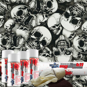 Hydrographic Kit Hydro Dipping Water Transfer Print Hydro Dip Large Skulls Dd931