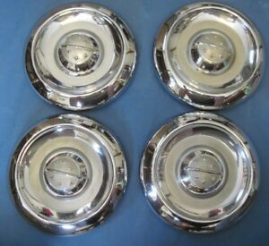 New Old Stock 1954 1955 56 Oldsmobile Set Of Small Dog Dish Hub Caps