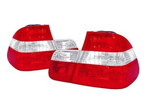 Depo Oe Euro Red Clear 4pcs Rear Tail Lights For 02 05 Bmw E46 3 Series 4d Sedan