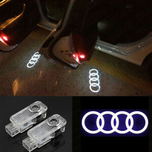 2x Led Sline Projector Logo Door Light Bulbs For Audi A4 A5 A6 A7 A8 A3 Q7 Q3 Q5
