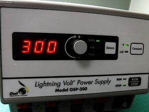 owl Osp 300 Lightning Volt Electrophoresis Power Supply 10 To 300v Genuine Lab