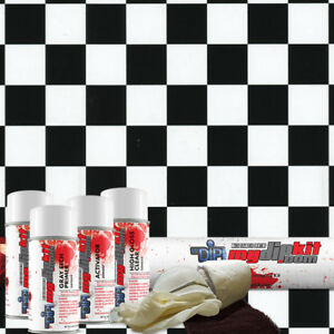 Hydro Dipping Water Transfer Printing Hydrographic Dip Kit Checkered Flag Ll691