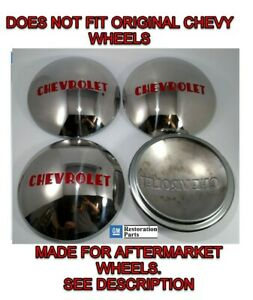 Chevrolet 1 2t Truck Hubcap Set 4 Stainless 1947 1953 fits Ford Wheel 1940 56