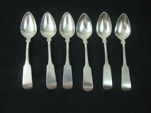 6 Antique 1800 S American Coin Silver Spoons By W Pitkin S S Newton Mono H M