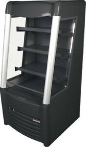 New 28 Space Saver Upright Refrigerated Open Merchandiser Display Cooler 115vlt