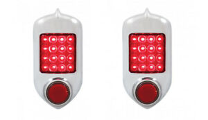 Pair 2 1951 1952 Chevrolet Car Led Tail Light Assembly