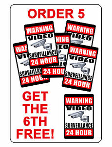 Video Surveillance Sign Security Sign High Gloss Durable Aluminum 6th For Free