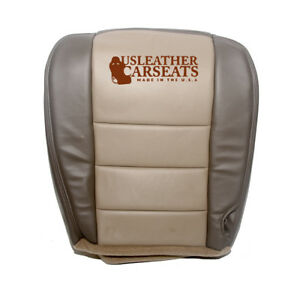 2002 2004 Ford Excursion Passenger Side Bottom Leather Seat Cover 2 Tone Tan