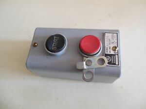 General Electric Cr2943 na102c Start Stop Push Button Station Switch Momentary