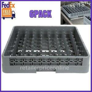 6 Pack Full Size Commercial Restaurant Dishwasher Machine Cup Peg Tray Rack