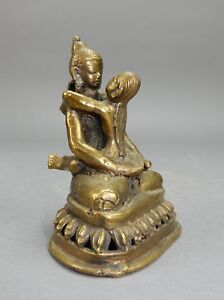 Antique Indian Kama Sutra Bronze Buddha Statue 4