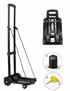Folding Hand Truck 70kg155 Lbs Heavy Duty 4wheel Solid Construction Utility Cart