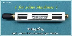 Kingsley Machine 3 Self centering Type Holder Hot Foil Stamping Machine
