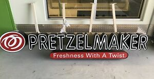 Large Lighted Outdoor indoor business Sign Commercial approximately 98 l