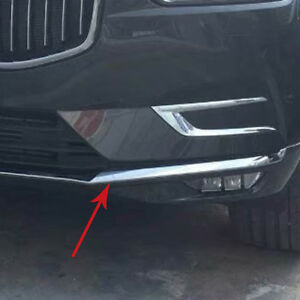 Abs Chrome Front Bottom Bumper Protector Cover Trim For Volvo Xc60 2018 2019 Suv