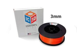 Ic3d 3mm 5lb 2 3kg Orange Abs 3d Printer Filament Made In Usa