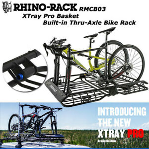 Rhino Rack Xtray Pro Roof Basket With Built In Thru axle Dual Bike Rack Rmcb03