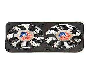 Flex a lite 420 Dual 2 500cfm Lo profile S blade Electric 12 1 8 Puller Fan