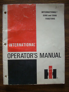 Ih Farmall Mccormick International 3388 3588 2 2 Owners Manual