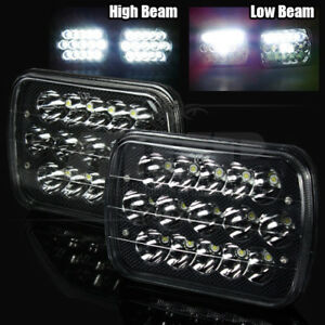 7x6 H6054 45w Epistar Led Black Crystal Sealed Beam Headlights Lamps Assembly