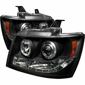 Spyder 5009647 Headlight For 2007 2008 2009 2014 Chevy Suburban 1500 Tahoe 2pc