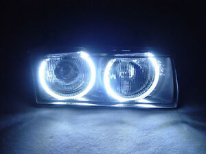 Depo Uhp Led Angel Eyes Euro Projector Glass Headlight For Bmw E36 3 Series