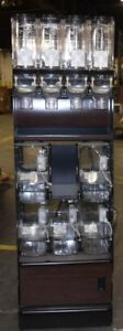 Bulk Food Retail Display 9 Acrylic Gravity Feed Bulk Food Containers And Cabinet