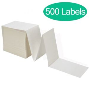 Fanfold 4 X 6 Direct Thermal Shipping Labels 500 Stack Perforated Zebra 2844