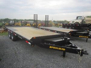2018 Pequea Deckover Trailer 12k 16 4 Adjustable Beaver Tail