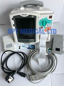 Philips Heartstart Mrx 3 Lead Ecg Pacer M3535a Ac Power Module Battery Memoryc