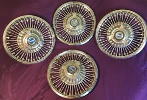 1960 s Ford Mustang falcon fairlane galaxie 14 Wire Hubcaps