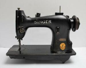 Singer 95 80 Straight Lockstitch Heavy Gear Industrial Sewing Machine Head Only