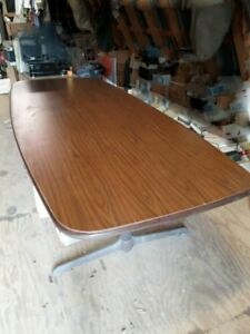 Conference Table Genuine Steelcase 96 x36 Boat Shaped