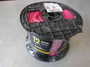New 500 Southwire 11589958 Awg 12 Solid Copper Red Wire Thhn 600v 90c Usa