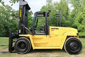 Hyster H330hd 33 000 Diesel Pneumatic Tire Forklift Sideshift