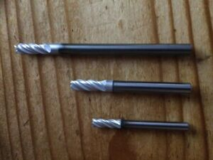 machinist Lot Of 14 Cid 3 16 1 4 Carbide End Mill Lot 4 Extended Coated