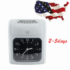 Electronic Employee Analogue Clock Recorder Time Card Monthly weekly Calendar Ca