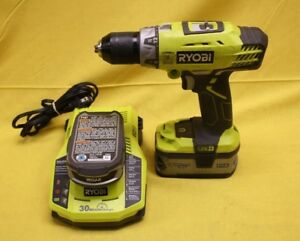 Ryobi Hammer Drill Kit P214 W Charger P117 4 Ah Battery Lithium Battery