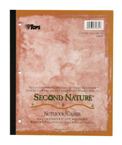Tops Second Nature Notebook Wireless 11 X 8 1 2 College Rule 24 Bk ct