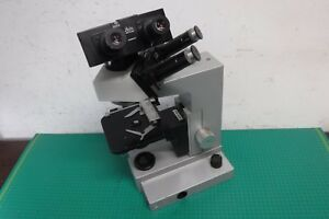 Ernst Leitz G Wetzlar Sm lux 020 441 Microscope Double Twin Head No Objectives