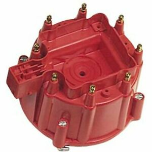 Msd 8411 Distributor Cap Male Hei Style Red Clamp Down Gm V8 Ea