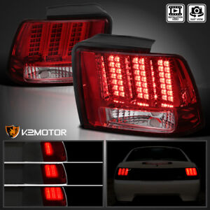 Red Fit 1999 2004 Ford Mustang Sequential Led Tail Lights Brake Lamps