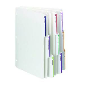 Smead Viewables Three ring Binder Index Dividers 1 3 cut Tab Letter Size