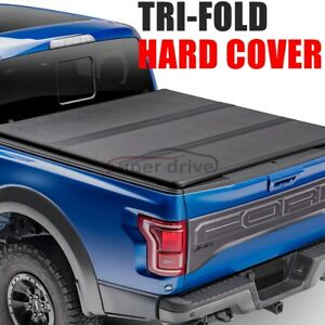 Fit 2015 2018 Chevy Colorado 5 2 Ft Bed Tri fold Lock Hard Solid Tonneau Cover