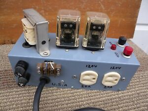 Dual Power Relay On Off Switch X2 20a Great Condition W tested Good U s a