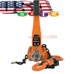 Fda Excellent Portable 1 5t 3000lb Lever Block Hoist Chain Ratchet Puller Lift
