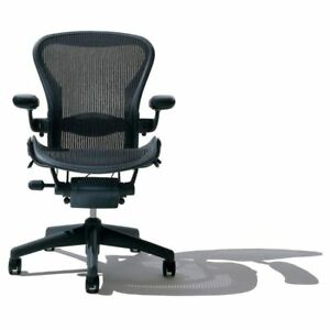 Herman Miller Aeron B Chair Fully Loaded Carbon Black 2009 Ae113awbaj