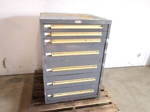Classic 7 Drawer Equipto Tools Parts Cabinet 30 X 29 X 42 1 4 Hd Steel