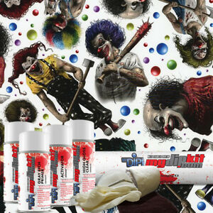 Hydro Dipping Water Transfer Printing Hydrographic Dip Kit Creepy Clowns Dd 928